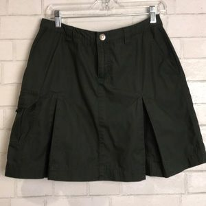 Patagonia Skirt Pleated Green 4 Pockets Mini